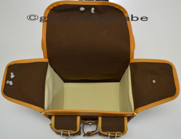 Handlebar bag interior brown